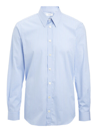 Retro Stripe Moriston Shirt, in BLUE, large | on Joseph