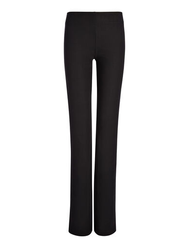 Gabardine Stretch Lex Trouser, in BLACK, large | on Joseph