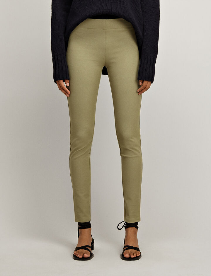 Gabardine Stretch Leggings, in PEA, large | on Joseph