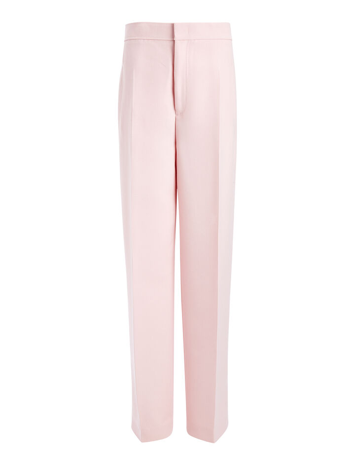 Tailoring Canvas Solar Trousers, in BUBBLE GUM, large | on Joseph