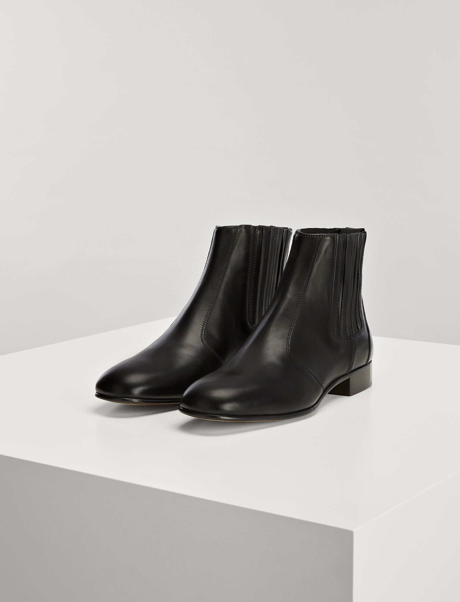Joseph, Calf Leather Pixie Boot, in BLACK
