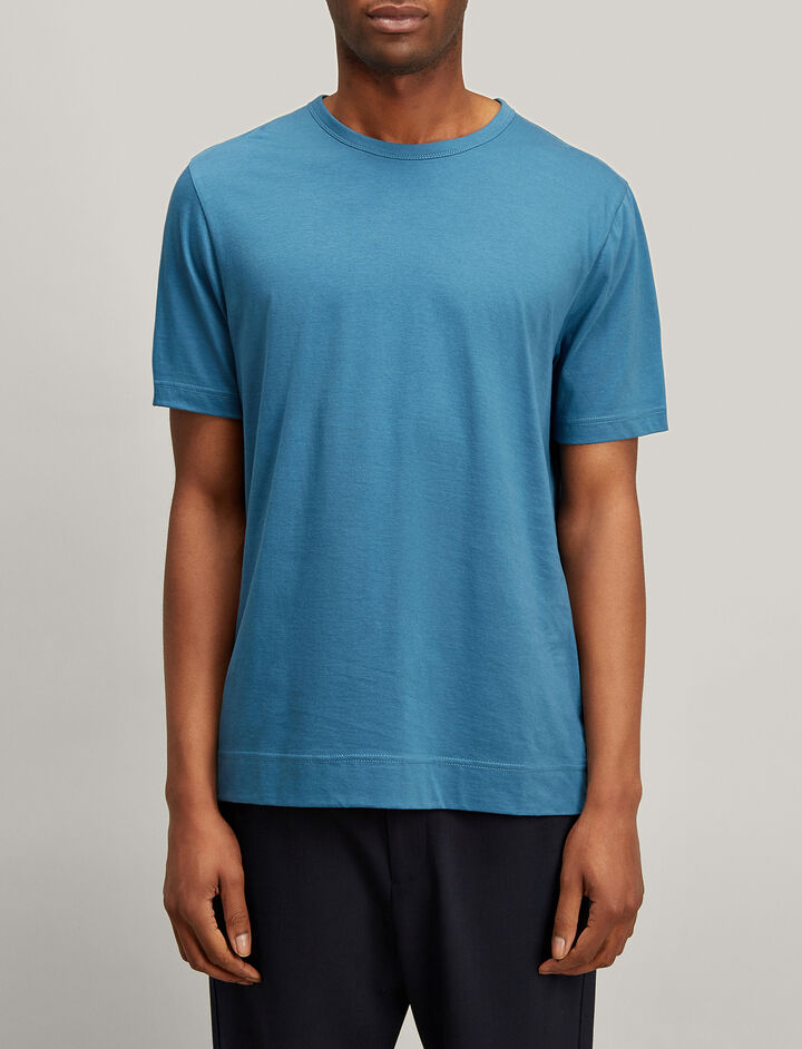 Joseph, Mercerized Jersey Tee, in AEGEAN