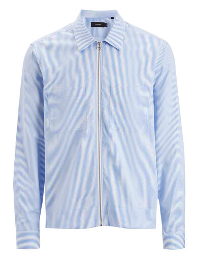 Retro Stripe Fenham Shirt, in BLUE, large | on Joseph