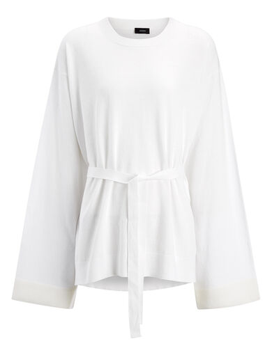 Pull en tricot calico, in OFF WHITE, large | on Joseph