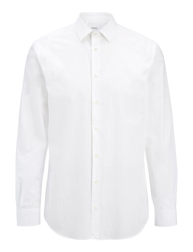 Parachute Poplin John Shirt, in WHITE, large | on Joseph