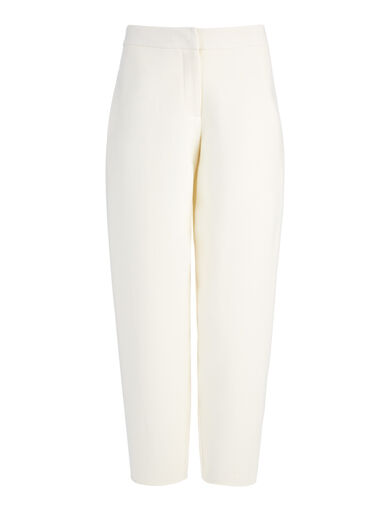 Pantalon New Herald en suiting double face, in OFF WHITE, large | on Joseph