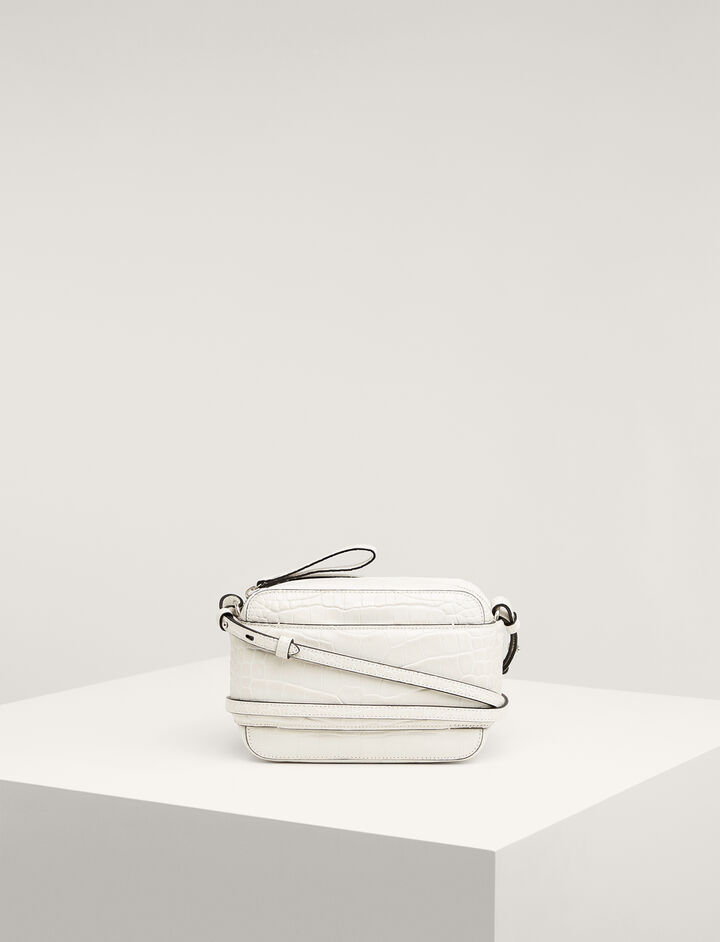 Joseph, Calf-leather Honore Bag , in WHITE
