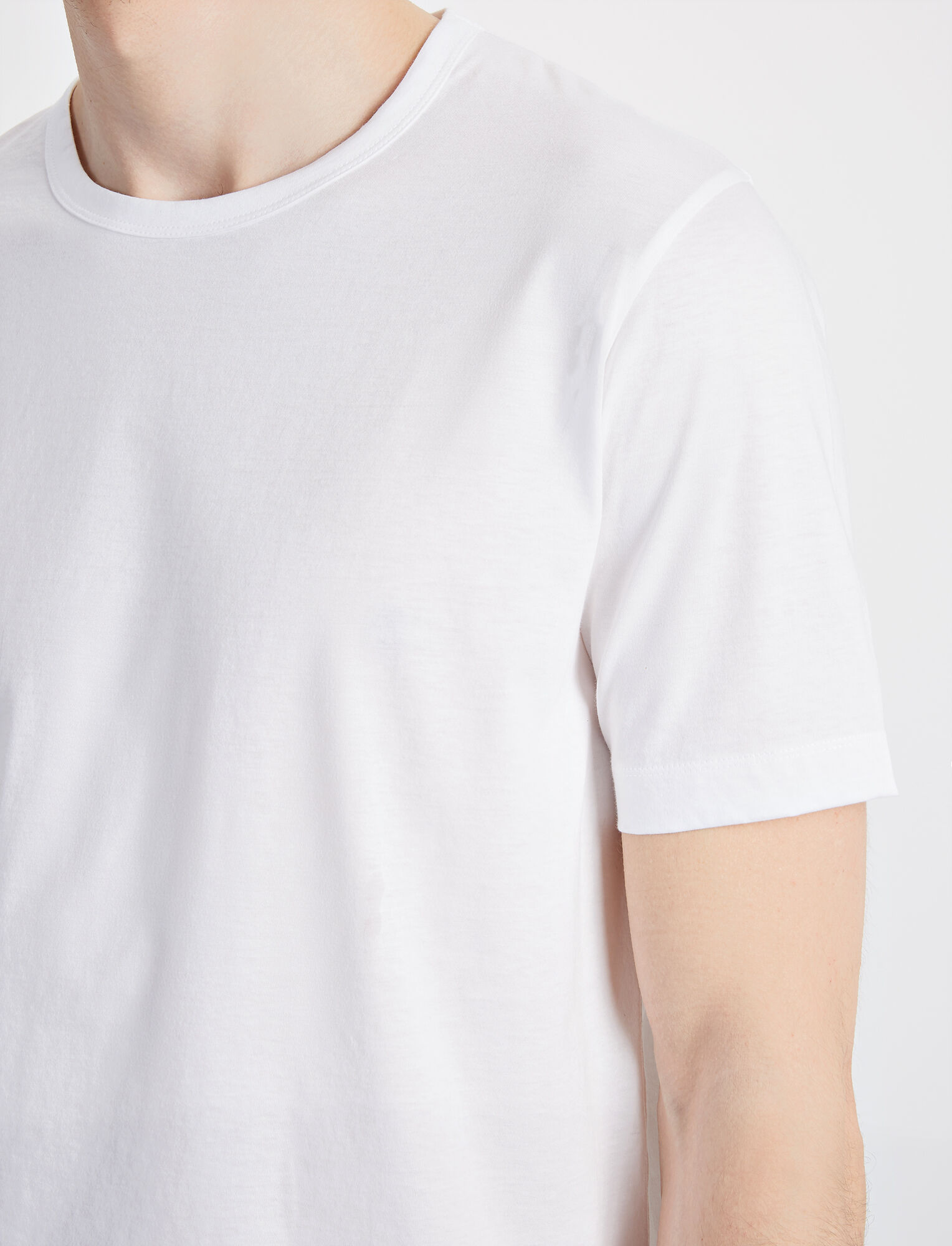 Joseph, Mercerized Jersey Tee, in WHITE