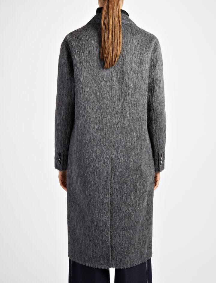 Double Alpaca Jimo Coat, in GRAPHITE, large | on Joseph