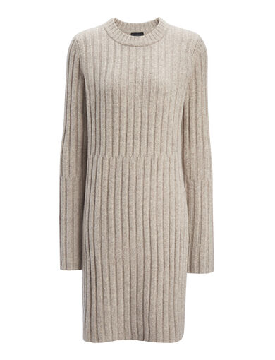 Soft Wool Rib Tunic, in BEIGE CHINE, large | on Joseph