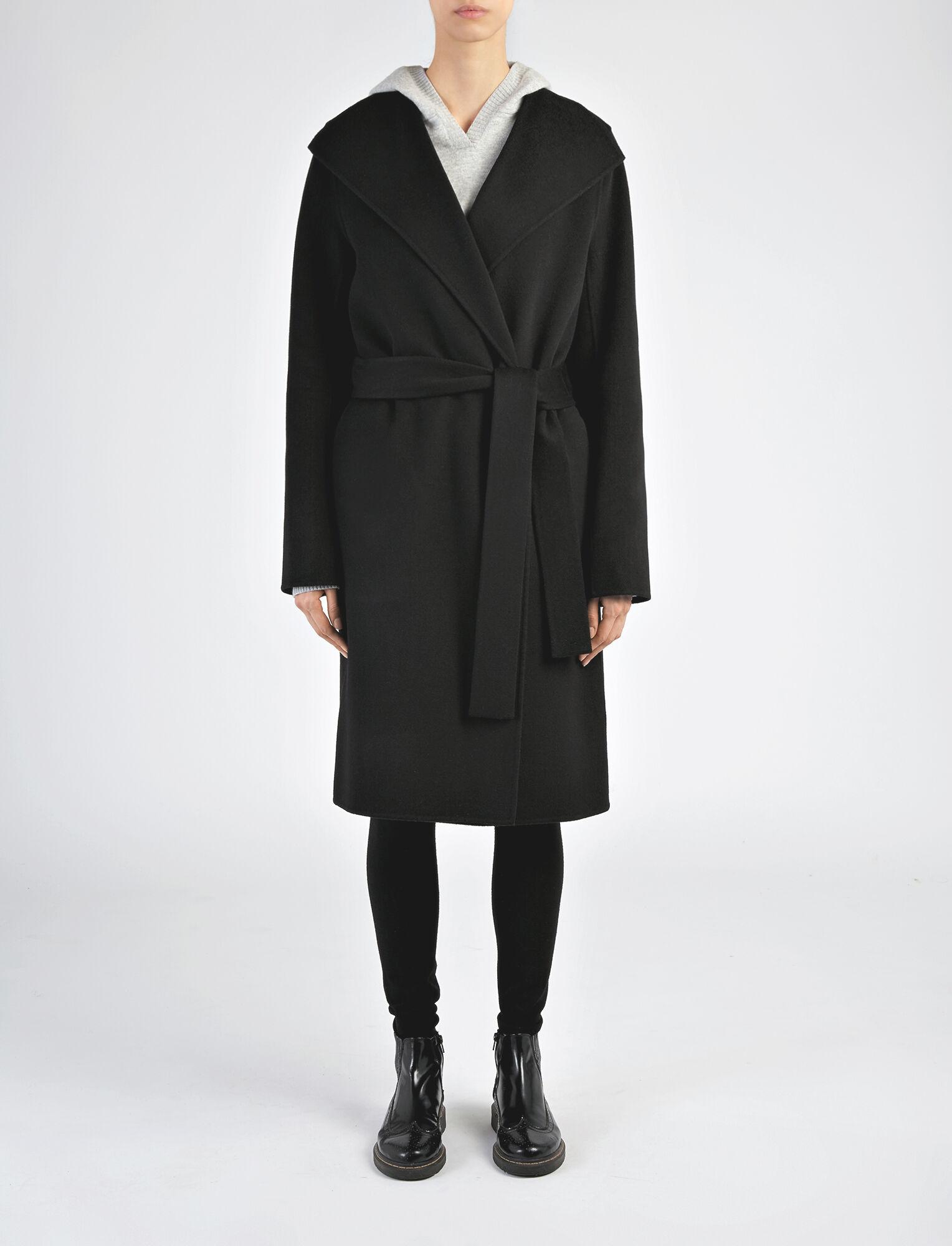 Manteau Lima en double cachemire, in BLACK, large | on Joseph