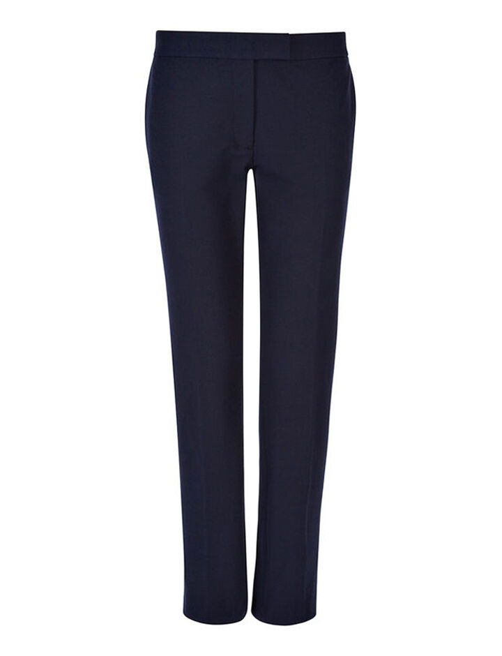 Pantalon Finley en gabardine stretch, in NAVY, large | on Joseph