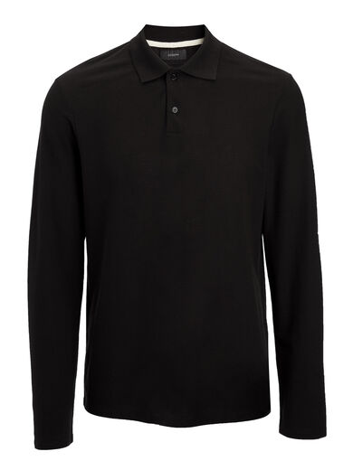 Ice Jersey Polo, in BLACK, large | on Joseph