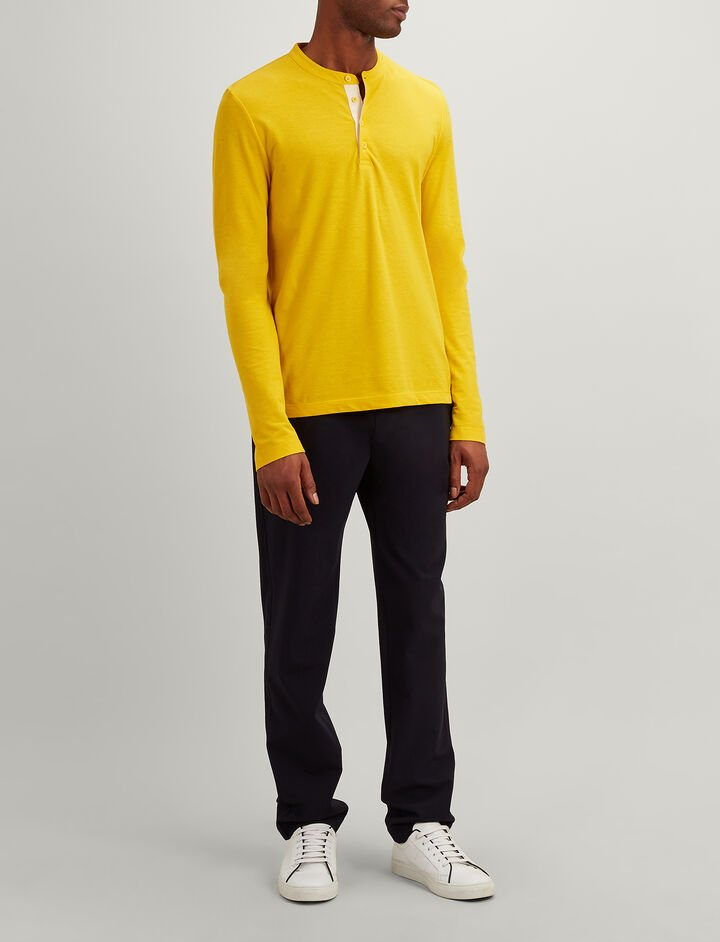Ice Jersey Henley, in DANDELION, large | on Joseph