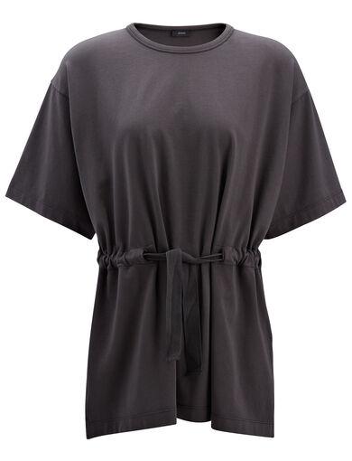 Garment Dyed Jersey Tee, in SMOKE, large | on Joseph
