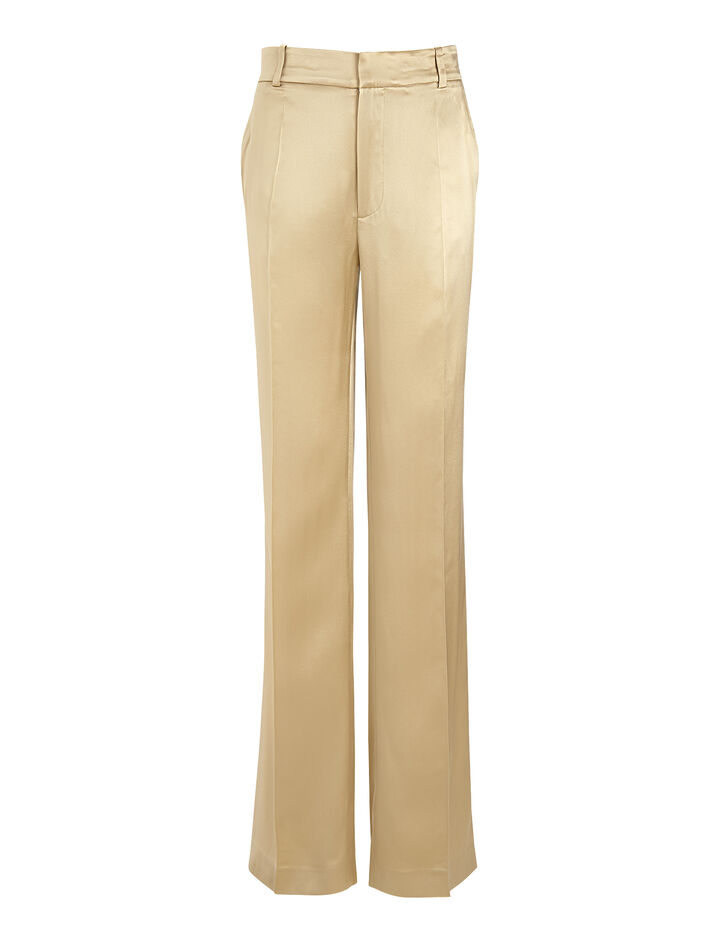Joseph, Silk Satin Ferdy Trouser, in BEIGE