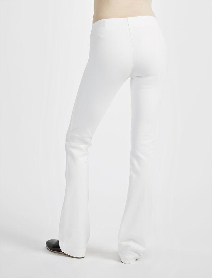 Pantalon Lex en gabardine stretch, in OFF WHITE, large | on Joseph
