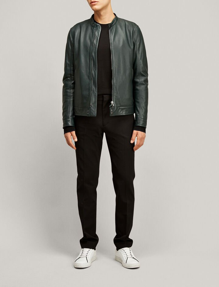 Joseph, Simon Leather Nappa Leather Jacket, in BERMUDA