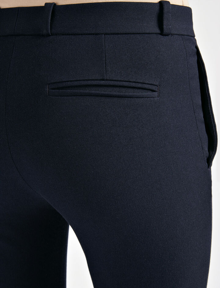 Gabardine Stretch New Rocket Trouser, in NAVY, large   on Joseph