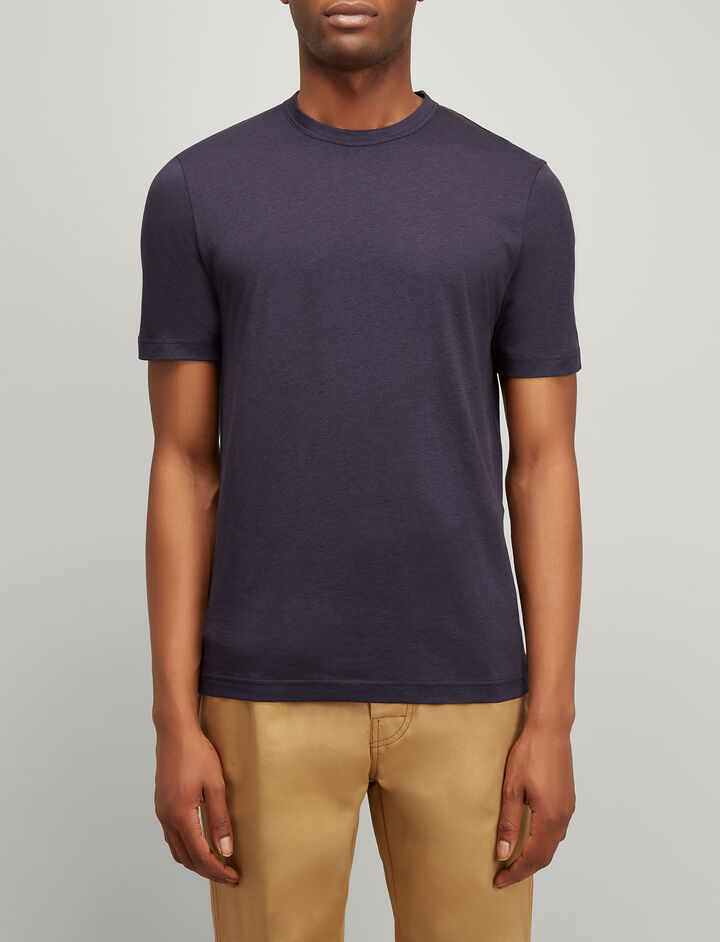 Lyocell Jersey Tee, in NAVY, large | on Joseph
