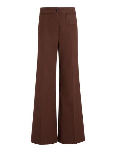 Gabardine Stretch Doni Trousers, in RUST, large | on Joseph