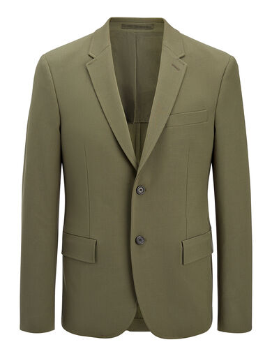 Techno Wool Stretch Halifax Suit, in KHAKI, large | on Joseph