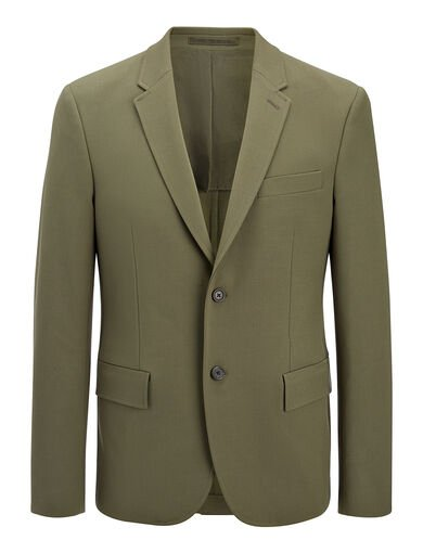 Veste Halifax en laine techno stretch, in KHAKI, large | on Joseph