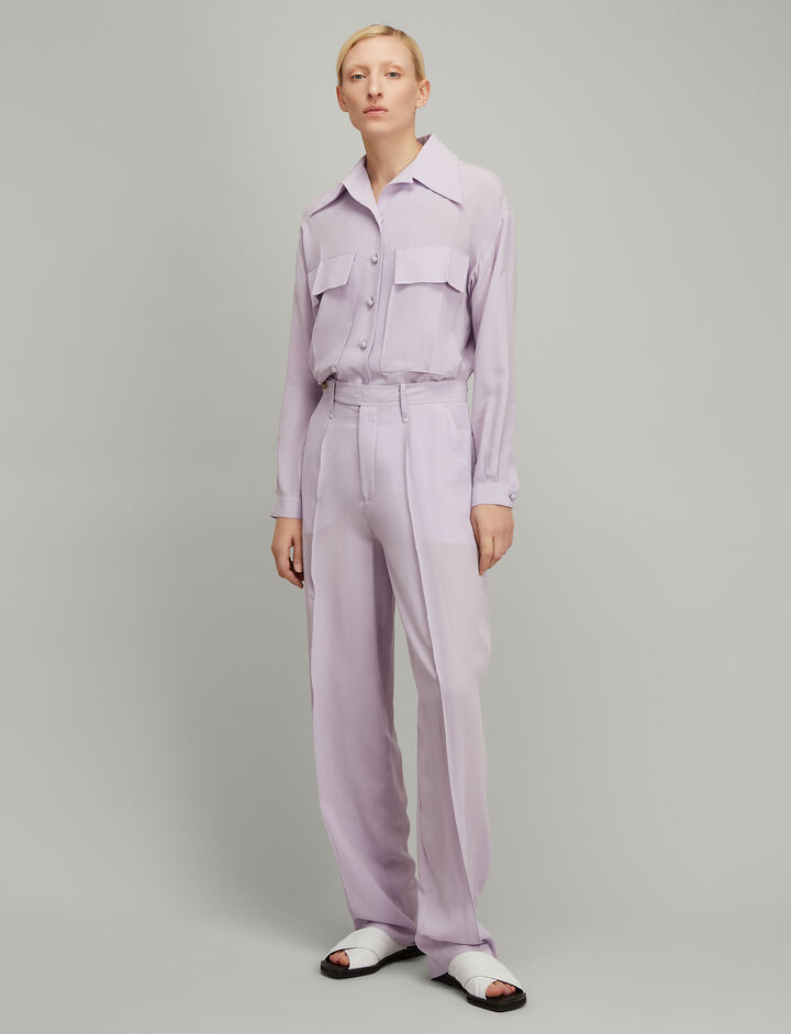 Joseph, Silk Toile Cam Shirt, in PERIWINKLE