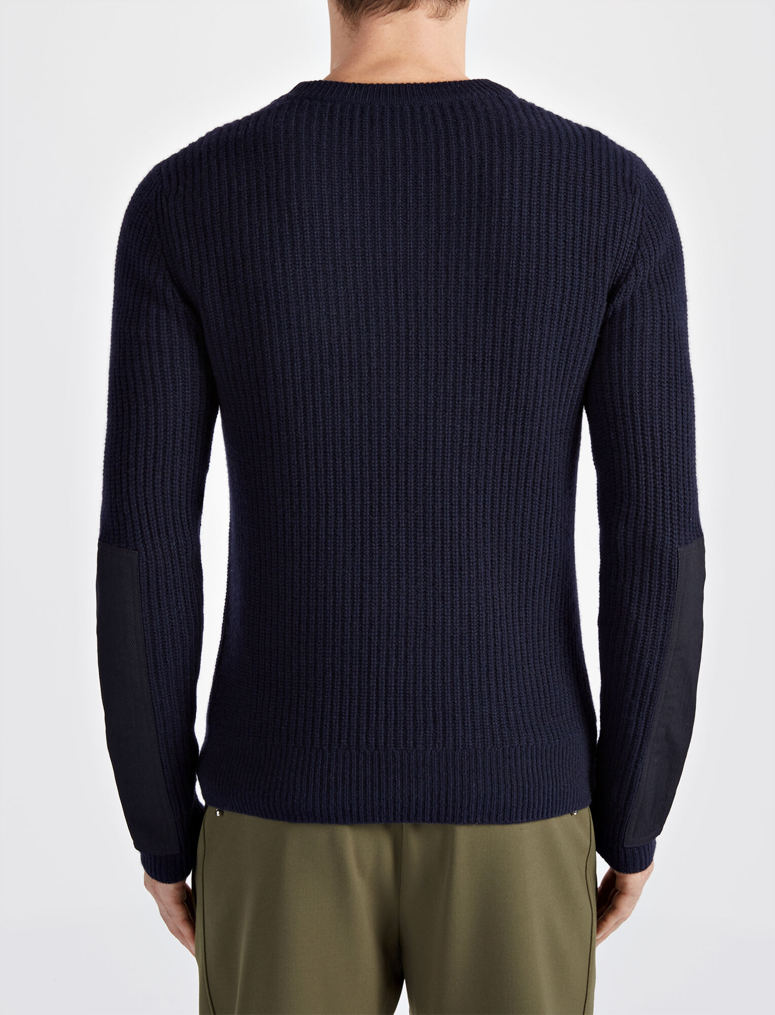 Joseph, Military Cashmere V Neck Sweater, in NAVY