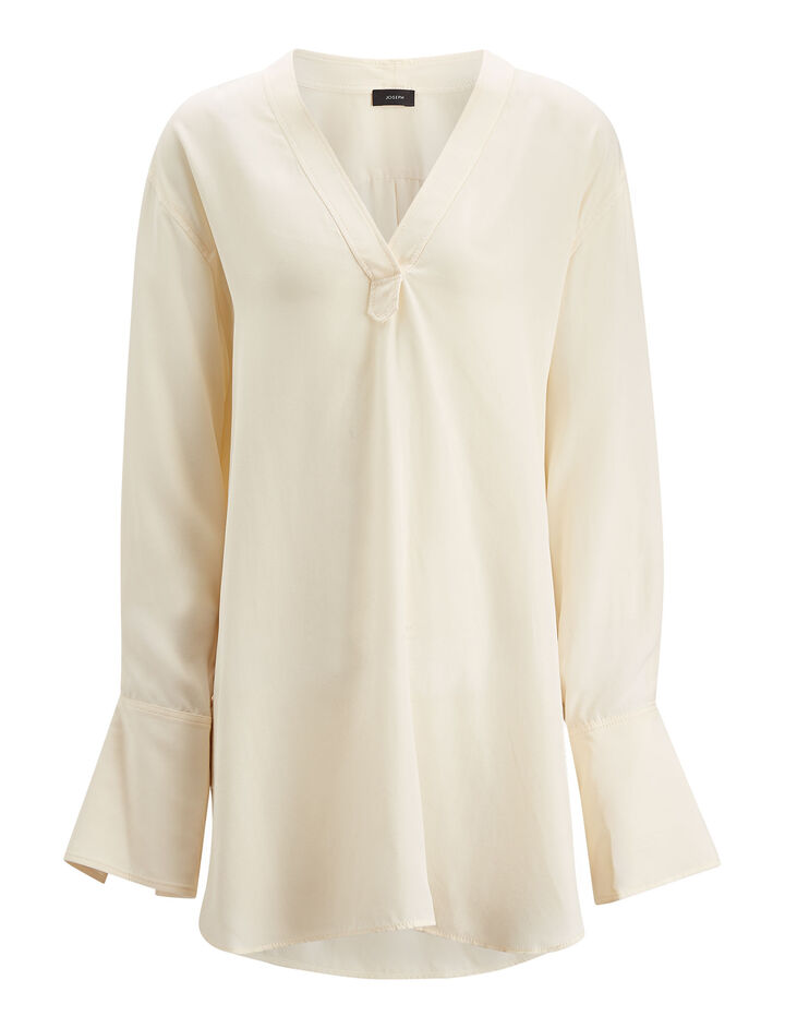 Joseph, Eamon Silk Toile Blouse, in ECRU