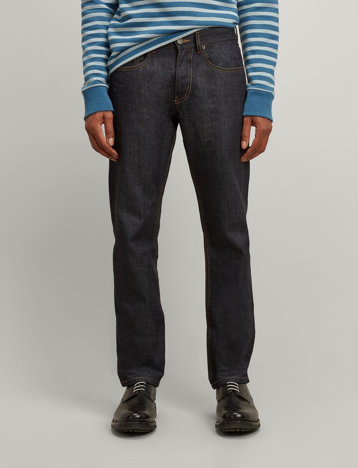 Pantalon James en denim stretch, in DARK INDIGO, large | on Joseph