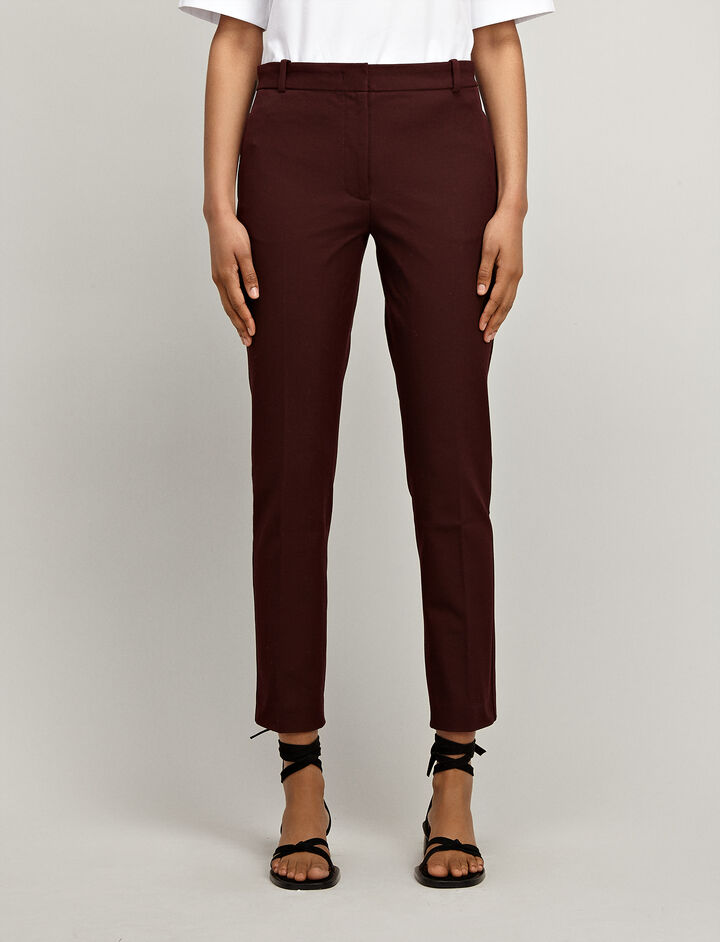 Gabardine Stretch Zoom Trousers, in MORGON, large | on Joseph