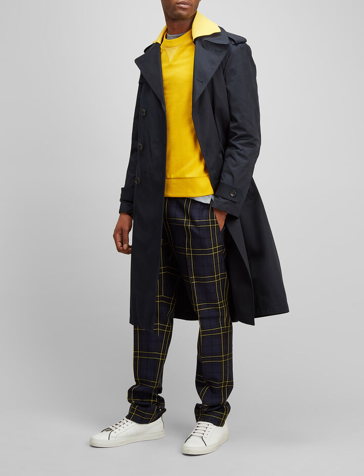 Joseph, Prince of Wales Check Arthur Trousers, in BLACK/NAVY