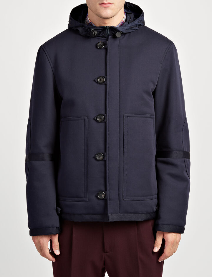 Military Cotton Mersey Coat, in NAVY, large | on Joseph