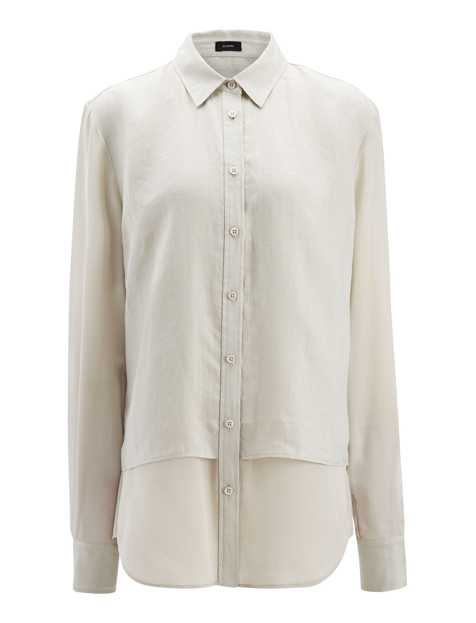Ramie Voile Gracie Blouse, in COCONUT, large | on Joseph