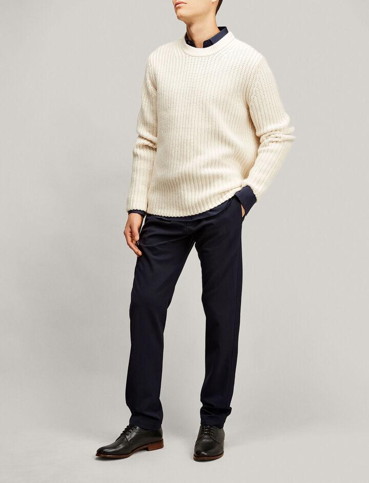 Joseph, Ettrick Techno Wool Stretch Trousers, in NAVY