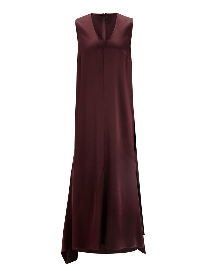 Joseph, Silk Satin Reid Dress, in MORGON