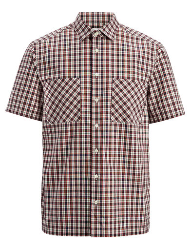 Check Shirting Colburn Shirt, in WHITE, large | on Joseph