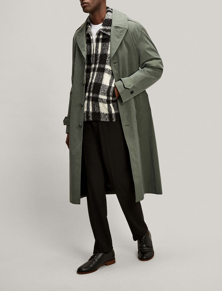 Joseph, Albert Blown Blanket Check Jacket, in BLACK