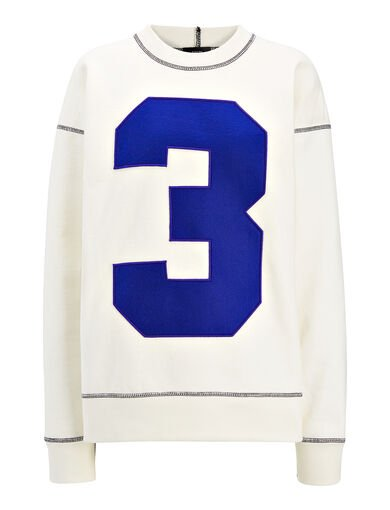 Heavy Loopback Jersey Sweatshirt, in WHITE, large | on Joseph