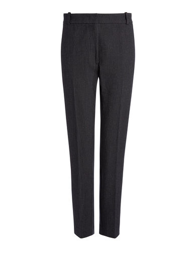Gab Stretch Pinstripe Zoom Trousers, in NAVY, large | on Joseph
