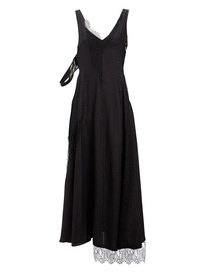 Joseph, Mix Lace Bronte Dress, in BLACK