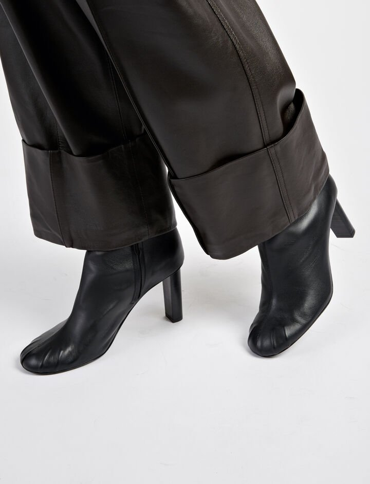Nappa Leather Pigalle Boots, in BLACK, large | on Joseph