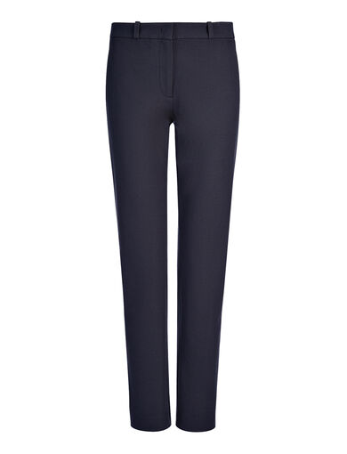 Pantalon New Eliston en gabardine stretch, in NAVY, large | on Joseph