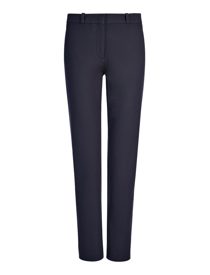 Gabardine Stretch New Eliston Trouser, in NAVY, large | on Joseph