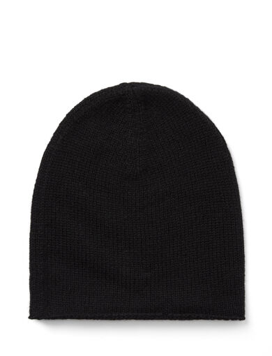 Mongolian Cashmere Hat, in BLACK, large | on Joseph