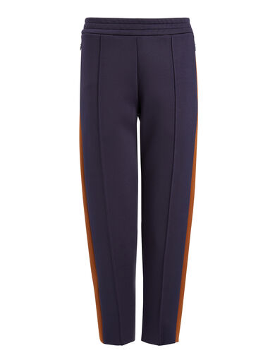 Scuba Cropped Jog Trousers, in MARINE/RUST, large | on Joseph