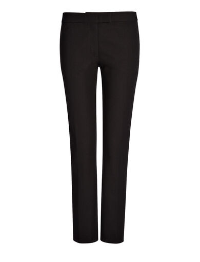 Pantalon Finley en gabardine stretch, in BLACK, large | on Joseph