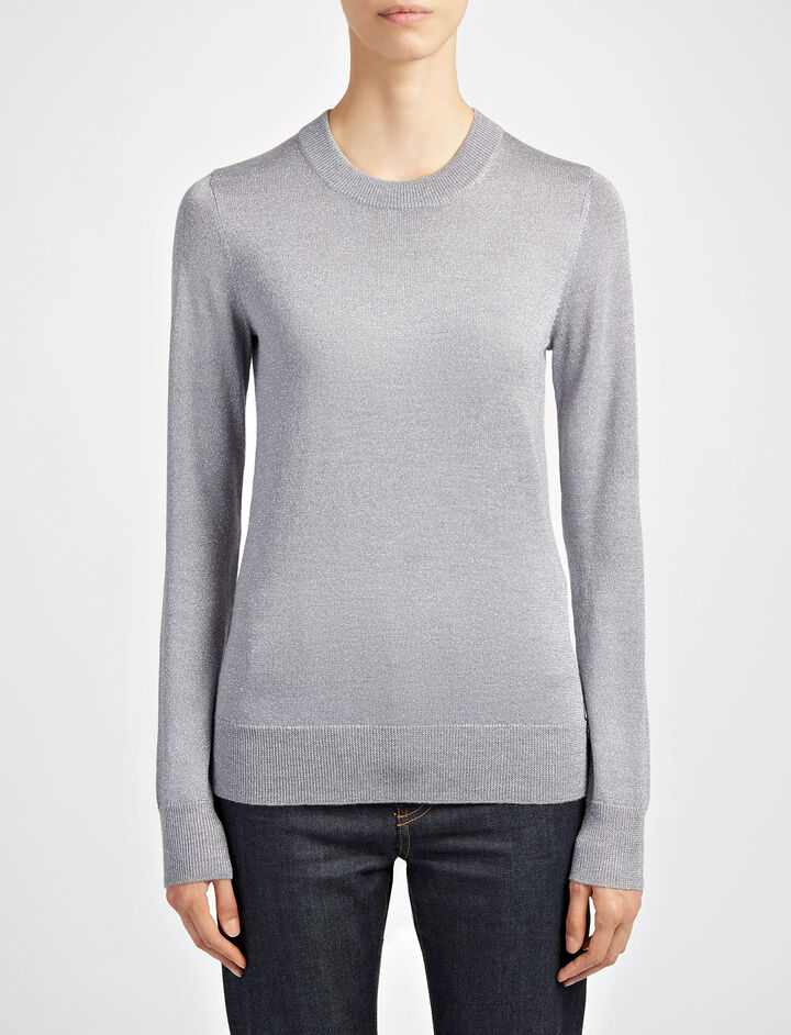 Pull en lurex, in CONCRETE, large | on Joseph