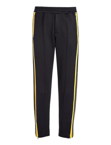 Scuba Jersey Trackpant, in BLACK/YOLK, large | on Joseph